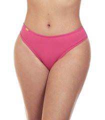 calcinha praia cintura alta estigma moda fio dental rosa