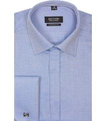 koszula versone 2291 na spinki custom fit niebieski