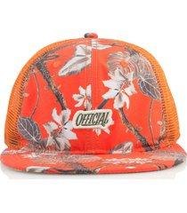 gorra naranja official hunter real tropical