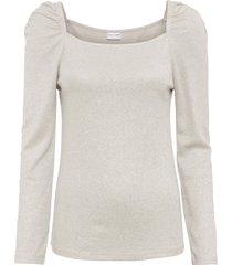 maglia a maniche lunghe glitterata (beige) - bodyflirt