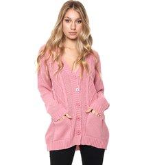saco acrilico rosa nano