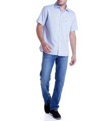 calca dudalina jeans blue wash masculina (jeans claro, 50)