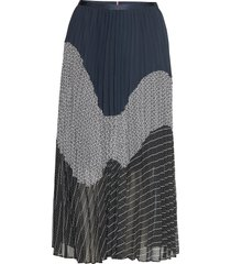 deidre skirt knälång kjol multi/mönstrad tommy hilfiger