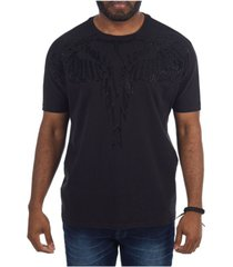 heads or tails 3d graphic studded wings t-shirt
