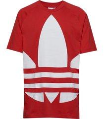 bg trefoil tee t-shirts short-sleeved röd adidas originals