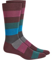 alfani men's ombre textured striped socks, created for macy's