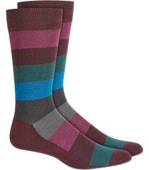 alfani men's ombre textured striped socks, created for macy's