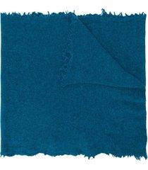 altea frayed edge scarf - blue