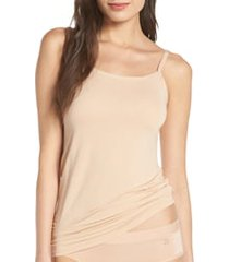 women's tommy john second skin stay tucked camisole, size medium - brown