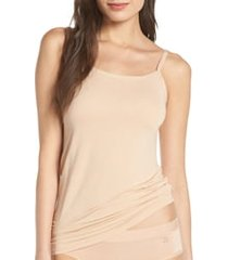 women's tommy john second skin stay tucked camisole, size small - brown