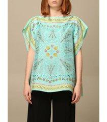 emilio pucci top emilio pucci kaftan sweater in printed silk