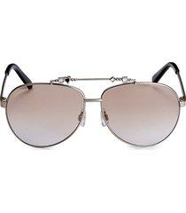 dsquared2 women's 63mm embellished aviator sunglasses - beige brown