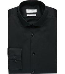 calvin klein infinite non-iron black extreme slim fit stretch dress shirt