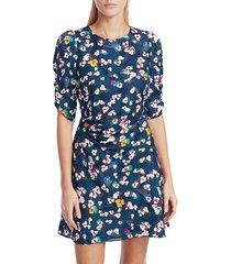 tanya taylor liz silk floral dress - brushed floral - size 4
