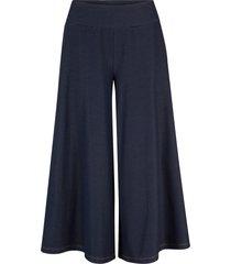 pantaloni culotte in maglina effetto jeans (blu) - john baner jeanswear
