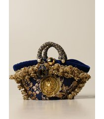 sikuly shoulder bag damask p. sikuly coffa bag with lurex embroidery