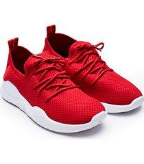 tenis mujer textura rojos color rojo, talla 39