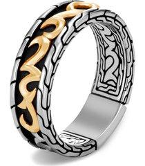 men's john hardy men's classic chain two-tone 7mm band ring