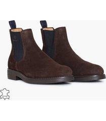 gant oscar chelsea chelsea boots dark brown