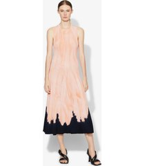 proenza schouler dipped tie dye knit dress dark salmon/black/pink s