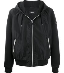 mackage grant jersey and shell hoodie - black