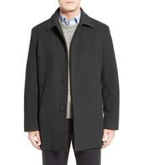 men's cole haan italian wool blend overcoat, size xx-large - grey