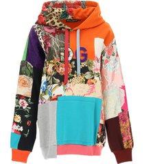 dolce & gabbana patchwork hoodie