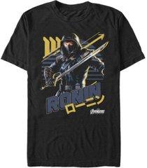 marvel men's avengers endgame ronin kanji strong stance short sleeve t-shirt