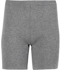 wool knit shorts grey