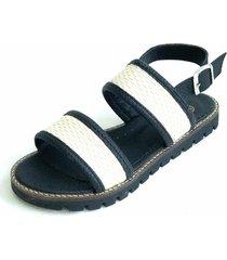 sandalia negra omm santorini