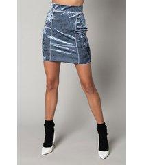 akira the best of me velvet mini skirt