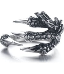 anillo garras dragon acero inoxidable punk vintage
