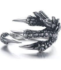 anillo garras dragon punk vintage