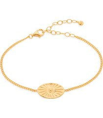 gold talisman heart bracelet