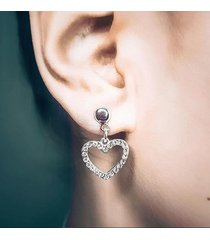 eleganckie kolczyki srebrne serce
