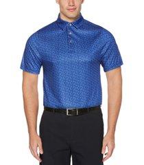 pga tour men's multi-color conversation golf polo shirt