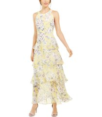 tommy hilfiger victoria floral-print halter-neck maxi dress