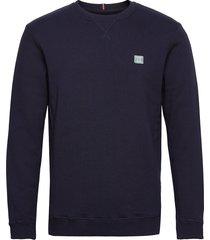 boozt piece sweatshirt sweat-shirt tröja blå les deux