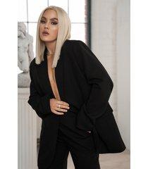 angelica blick x na-kd oversize blazer - black