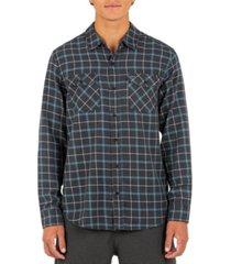 hurley men's pitfire plaid shirt