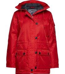 himalaya classic w parka lange jas jas rood tenson