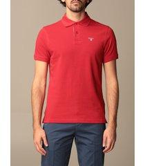 barbour polo shirt barbour polo shirt in pique cotton with logo