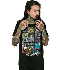 camiseta dc comics villains bandup!