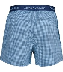 calvin klein wijde boxers 2-pak blauw ruit