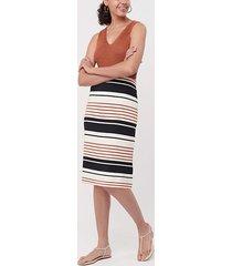 loft tall striped pull on pencil skirt
