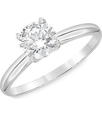 14k white gold & 1.50 tcw lab-grown diamond solitaire engagement ring