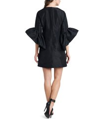 women's vince camuto trumpet sleeve taffeta dress, size 10 - black