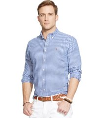 polo ralph lauren men's long-sleeve checked oxford shirt