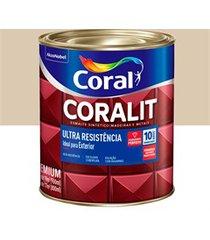 tinta esmalte sintético premium acetinada coralit tradicional areia 900ml