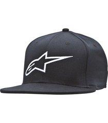 gorro ageless flat hat negro alpinestars